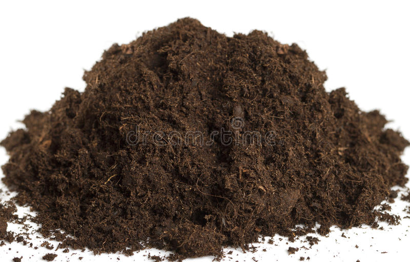 土壤堆。 免版税库存图片