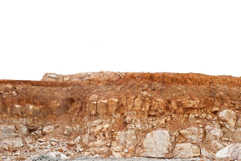 土壤层数 免版税库存图片