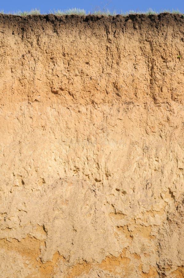 土壤层状裁减  图库摄影