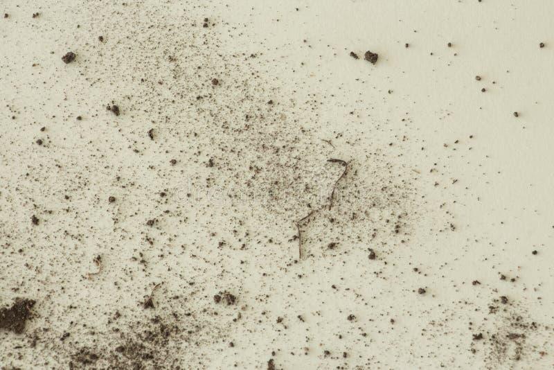 土壤或土在白色背景 图库摄影
