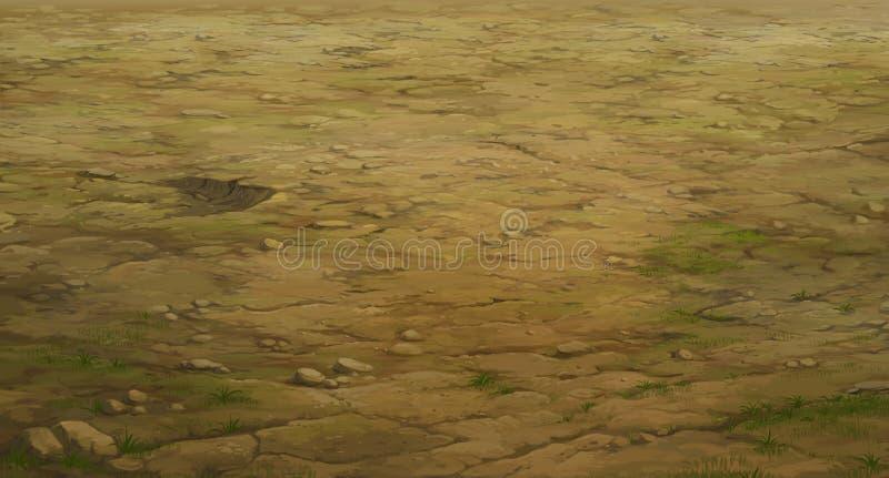 土壤纹理&结构 皇族释放例证