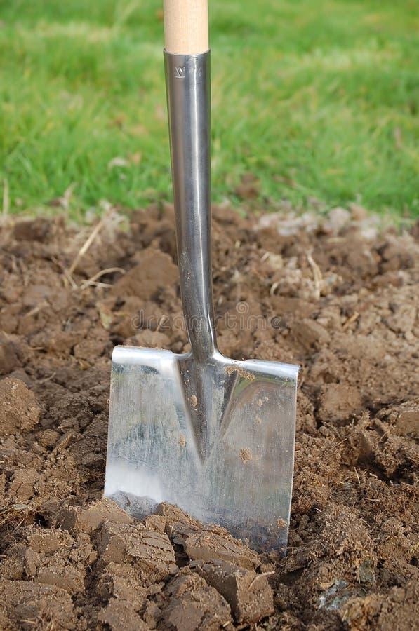 土壤锹 免版税库存照片