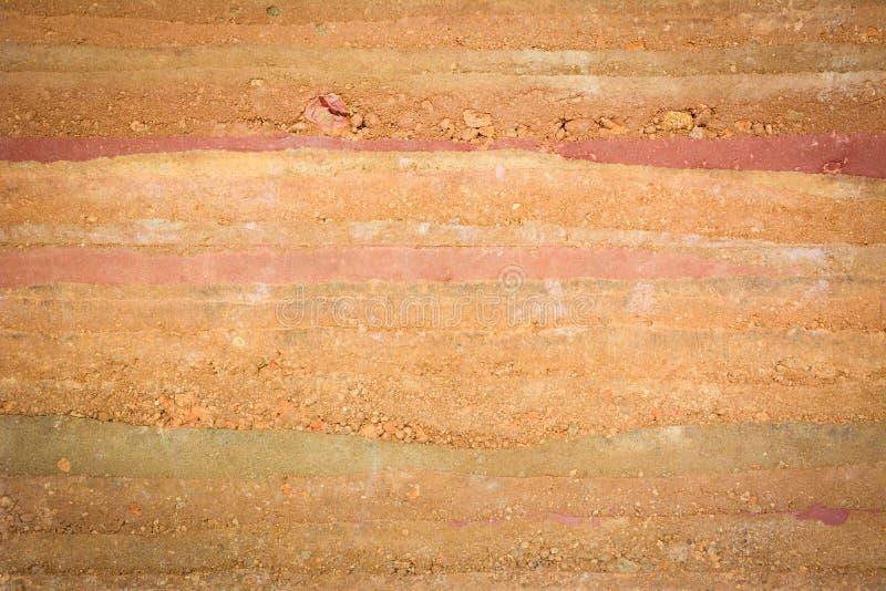 土壤&石头层纹理  免版税库存图片