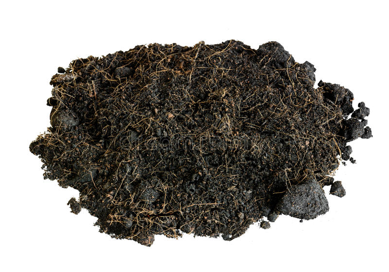 土壤黑色孤立 库存图片