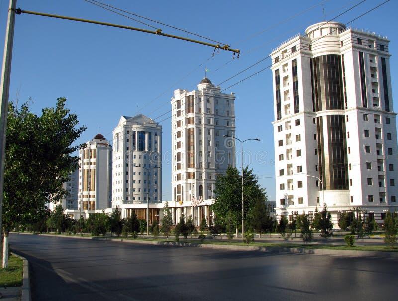土库曼斯坦-阿什伽巴特纪念碑和大厦  免版税库存图片