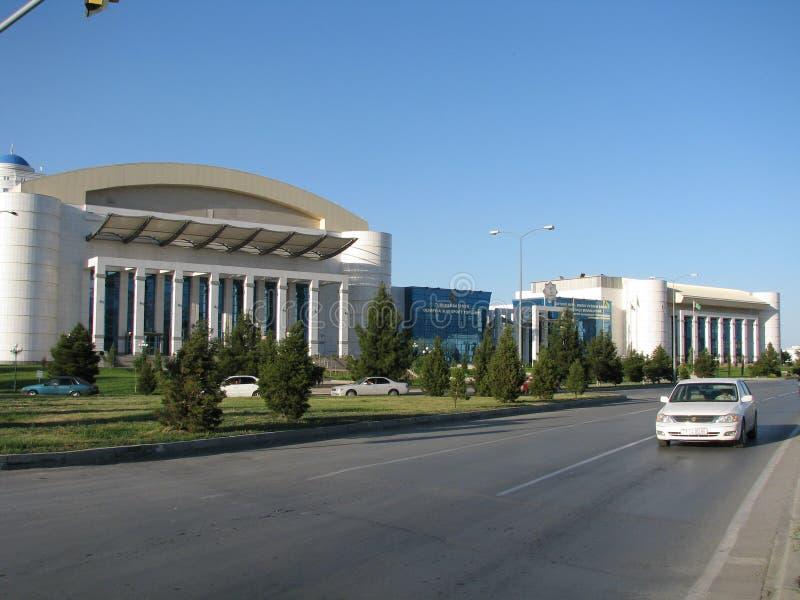 土库曼斯坦-阿什伽巴特纪念碑和大厦  免版税库存照片