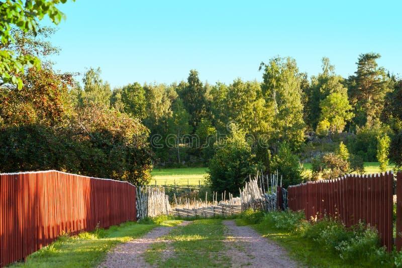 土方式在瑞典乡下 库存照片