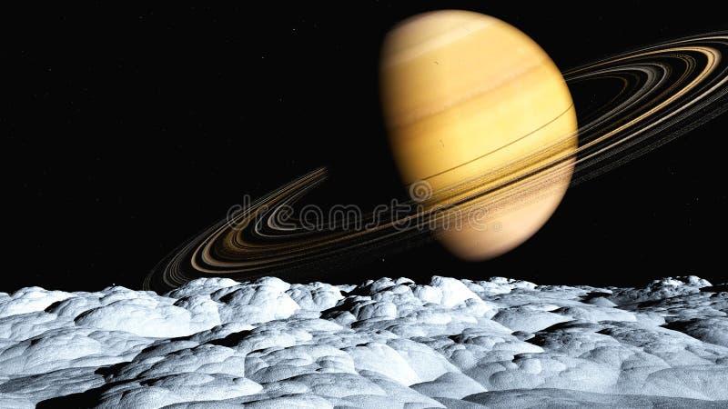 土星风景 向量例证