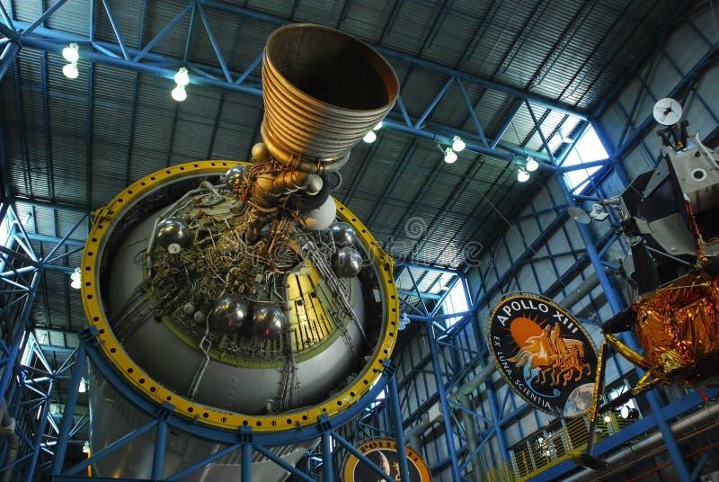 土星5火箭发动机阶段3 免版税库存照片