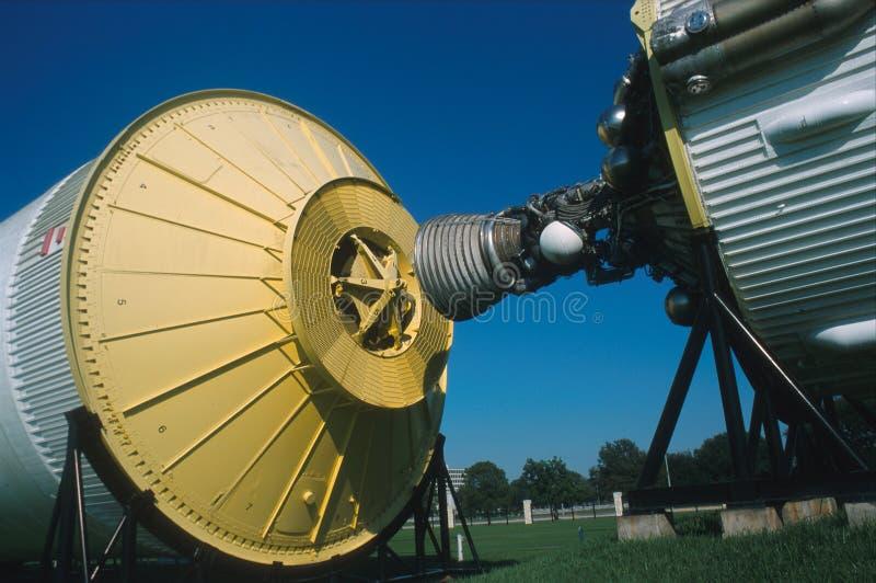 土星v火箭队细节 库存图片