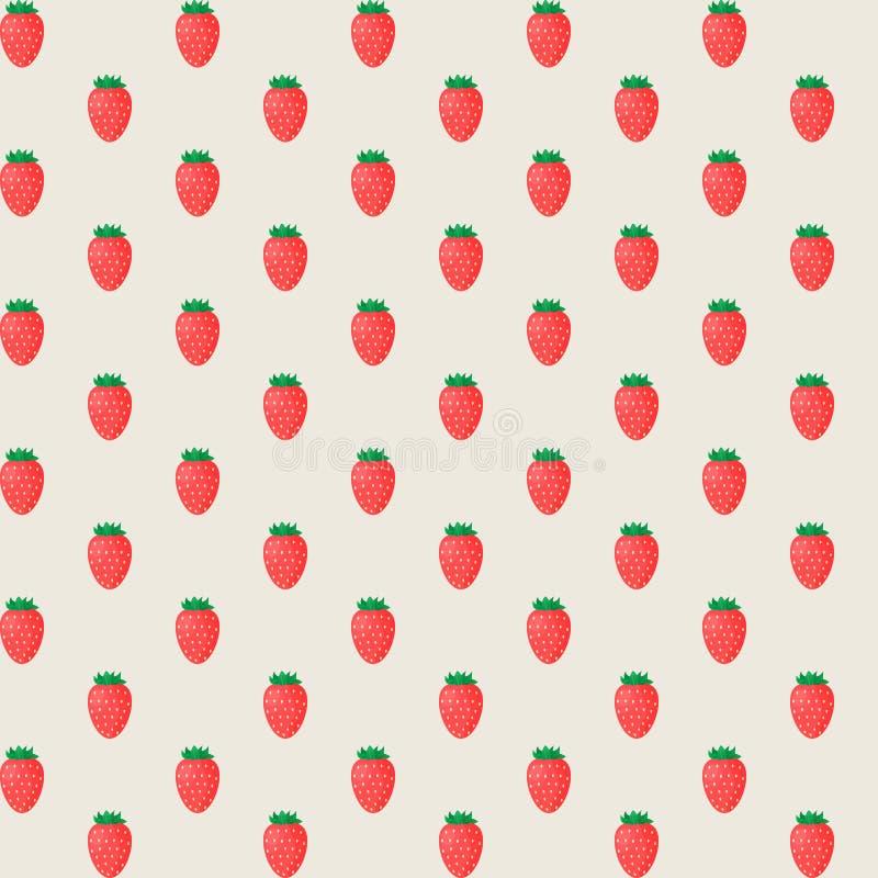 土气典雅的无缝的样式用草莓 也corel凹道例证向量 向量例证