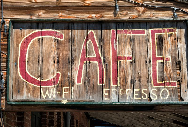 土气咖啡馆标志 图库摄影