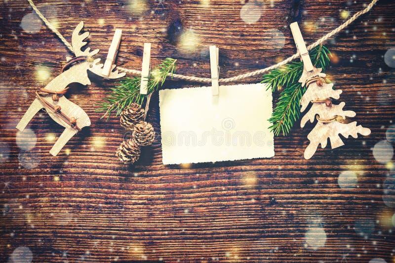 土气圣诞节的装饰 免版税库存图片