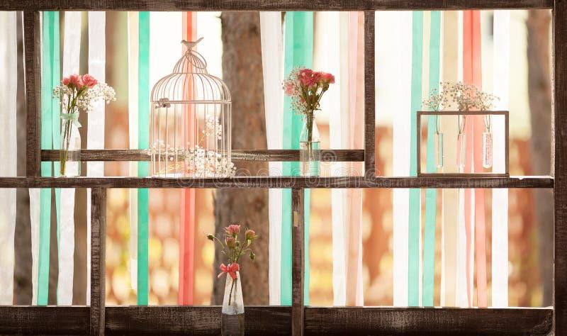 土气婚礼装饰 库存照片
