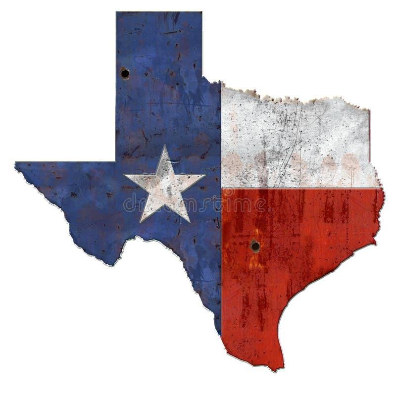 土气得克萨斯的旗子 免版税库存照片