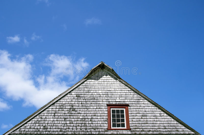 土气房子老的屋顶 免版税库存照片