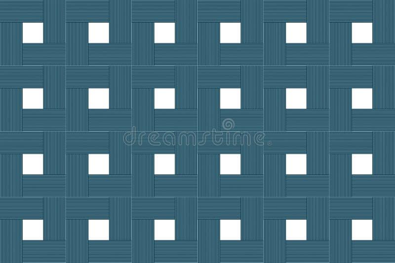 土气抽象背景木块方形的白色中心对称基地的设计 库存例证