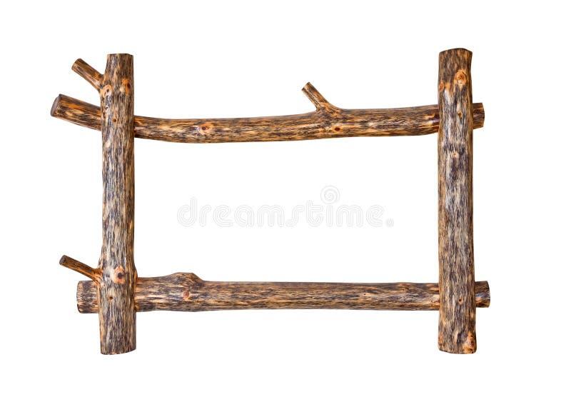 土气木制框架 免版税库存图片