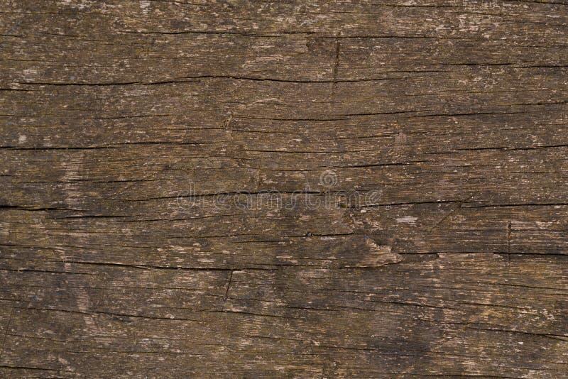 土气木摘要崩裂了表面背景 免版税库存照片