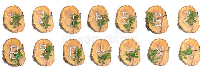 土气木数字 库存照片