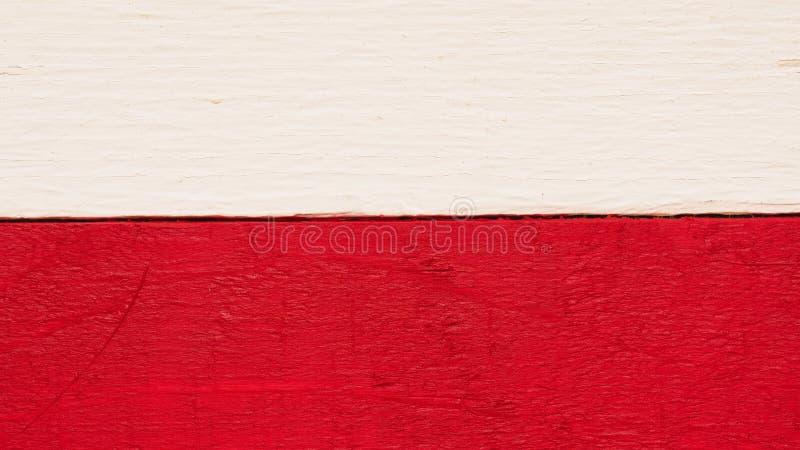 土气木波兰旗子 免版税库存照片