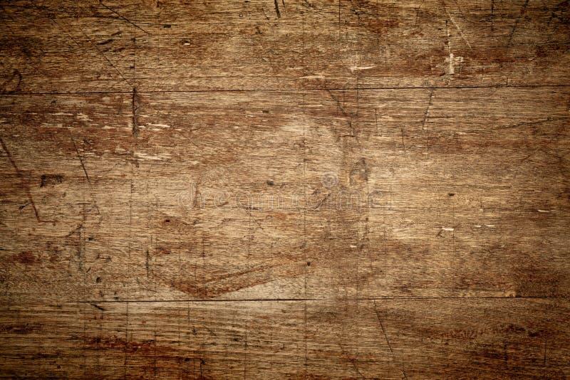 土气木背景以抓痕 免版税库存照片