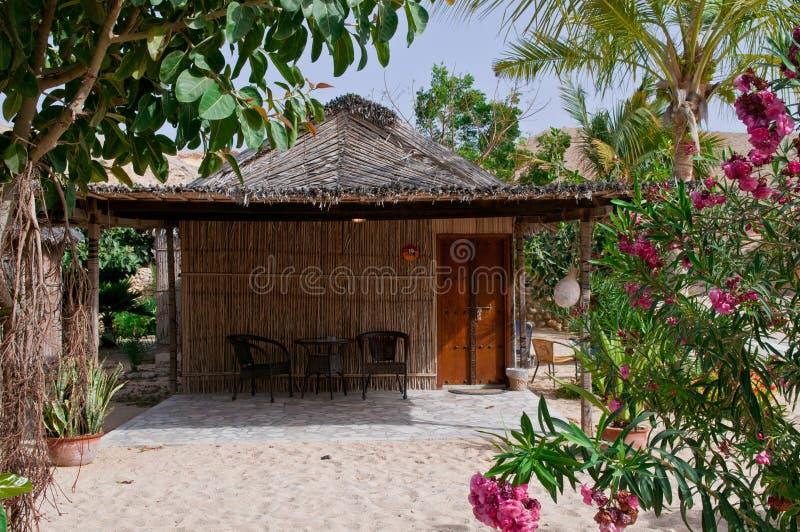土气海滩的小屋 库存图片