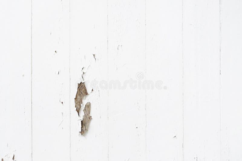 土气白色困厄的木板条纹理背景 免版税库存图片