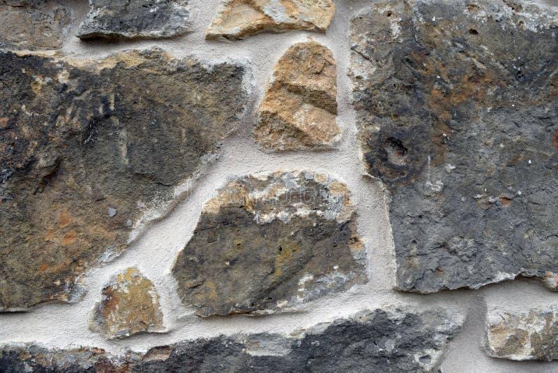 土气石墙 免版税库存照片