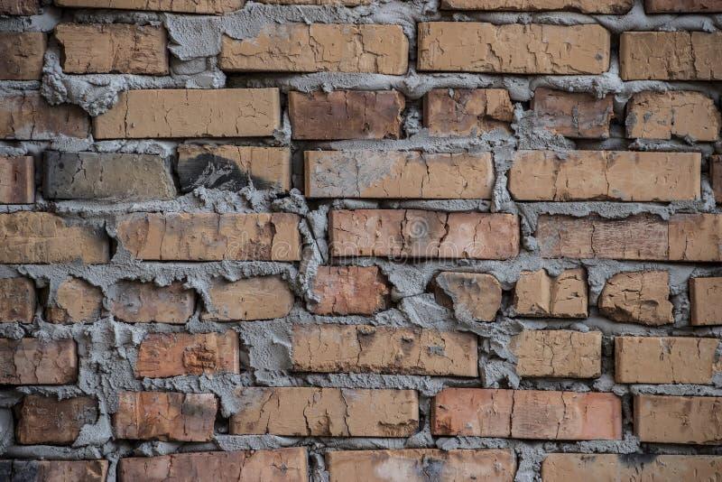 土气砖墙/背景 库存图片