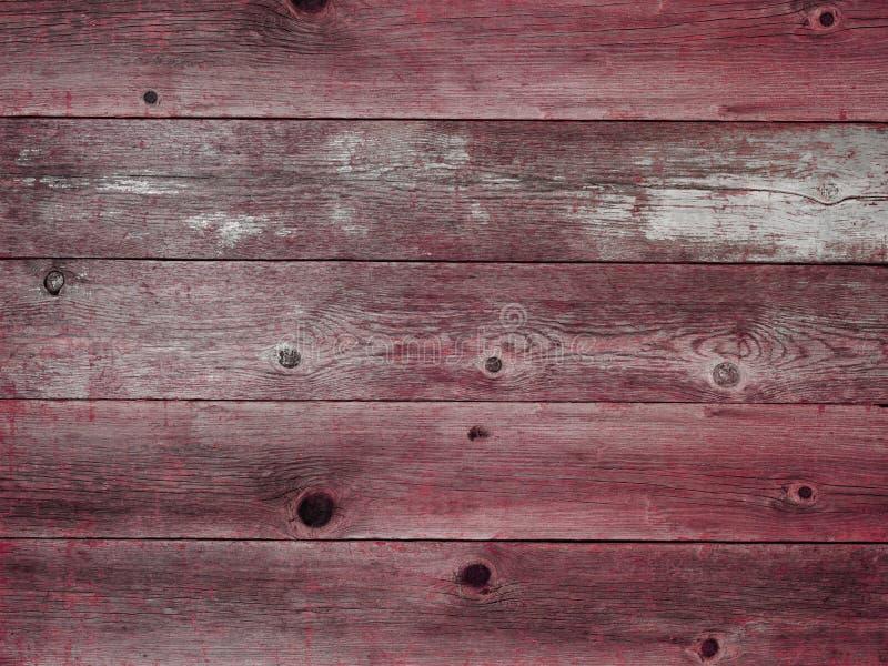 土气红色被风化的谷仓木板背景 免版税库存照片