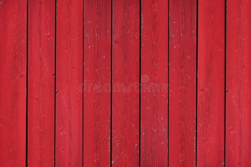 土气老红色木板条背景 免版税库存图片