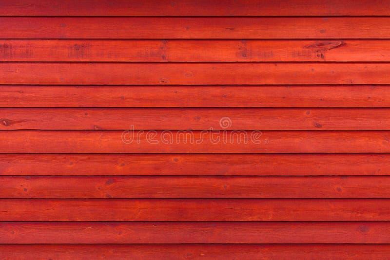 土气老被风化的红色木板条背景 库存图片