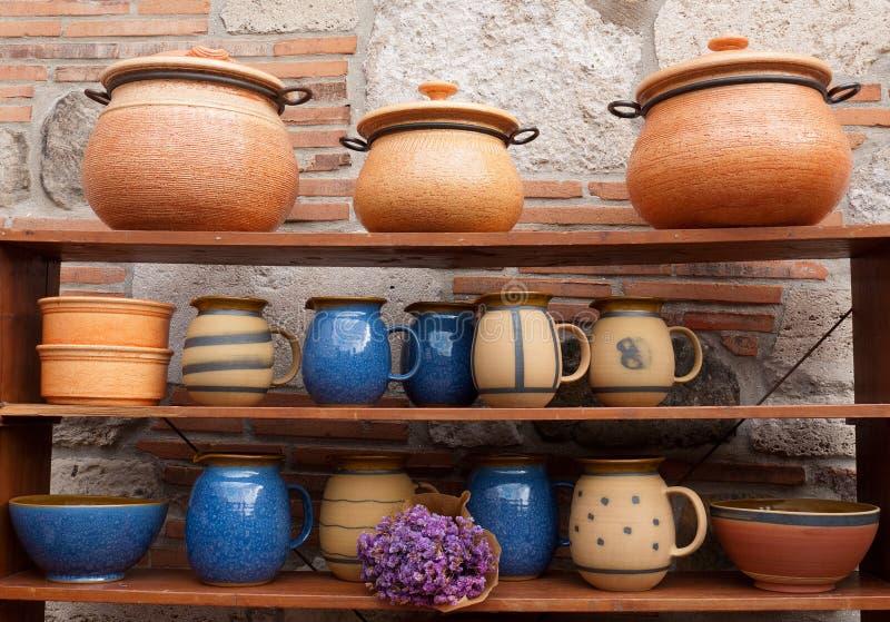 土气陶器 免版税库存图片