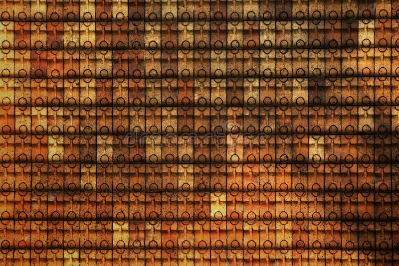黏土瓦片墙壁 库存图片