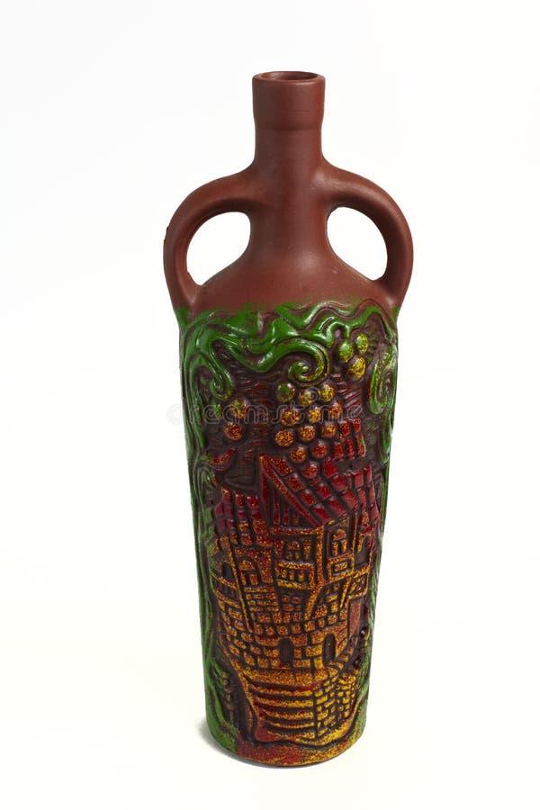 黏土瓶 免版税库存照片