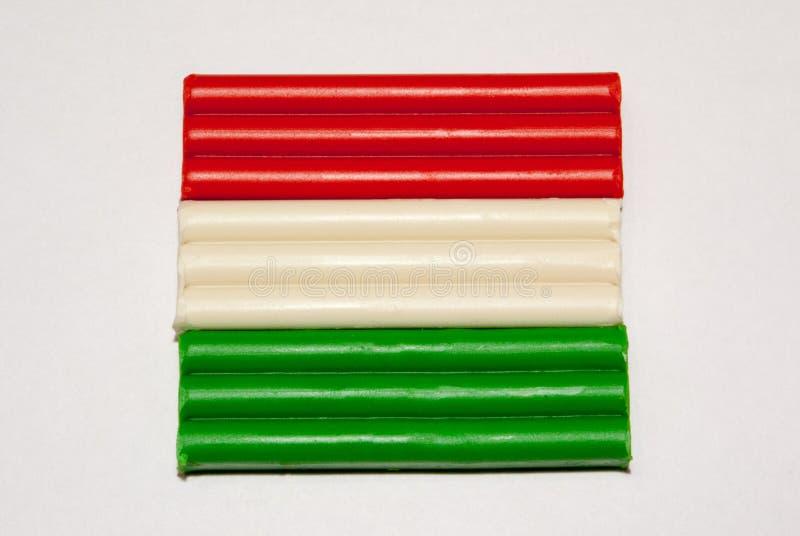 黏土的状态的旗子 免版税库存图片