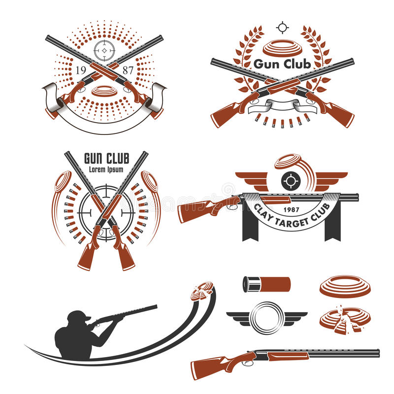黏土目标象征和设计元素 皇族释放例证