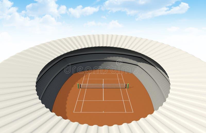 黏土网球场在天 皇族释放例证