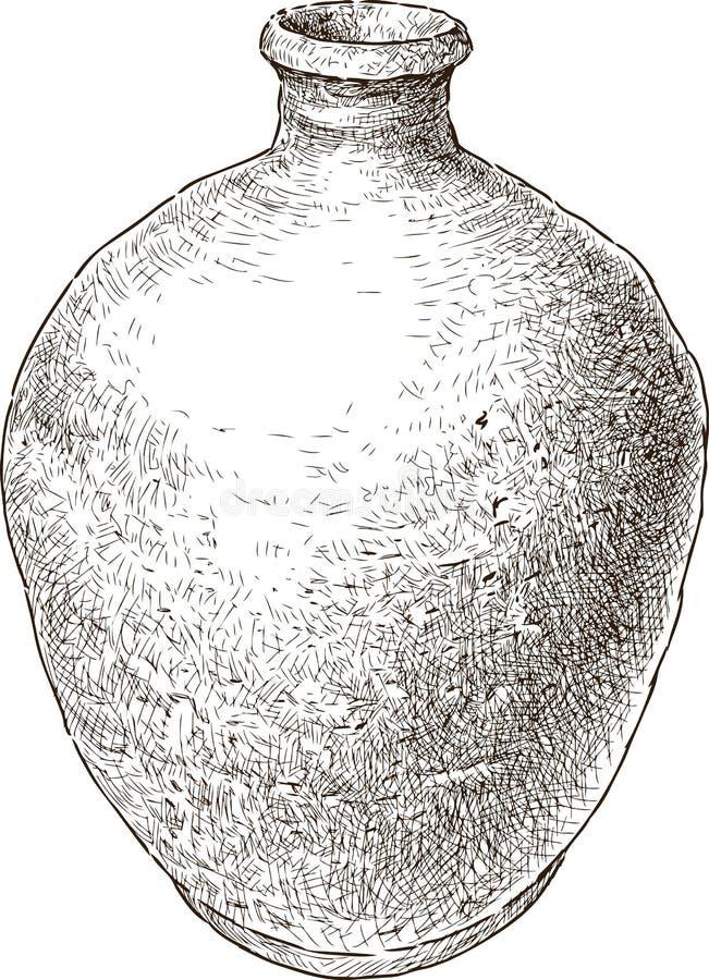 黏土老罐 库存例证