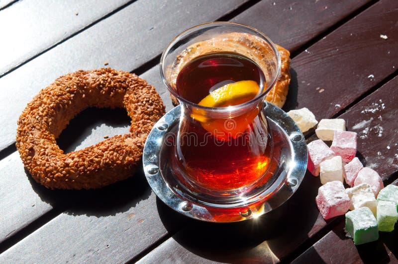 土耳其发球区域、欢欣和面包店 库存图片