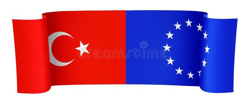 土耳其和欧盟 皇族释放例证
