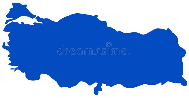 土耳其地图-横贯大陆的国家在欧亚大陆 皇族释放例证