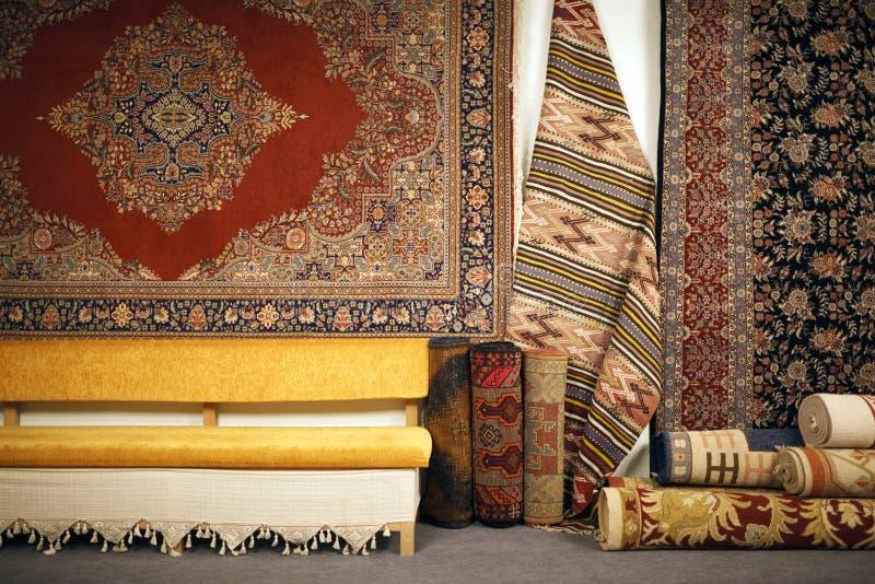 土耳其地毯商店 库存照片