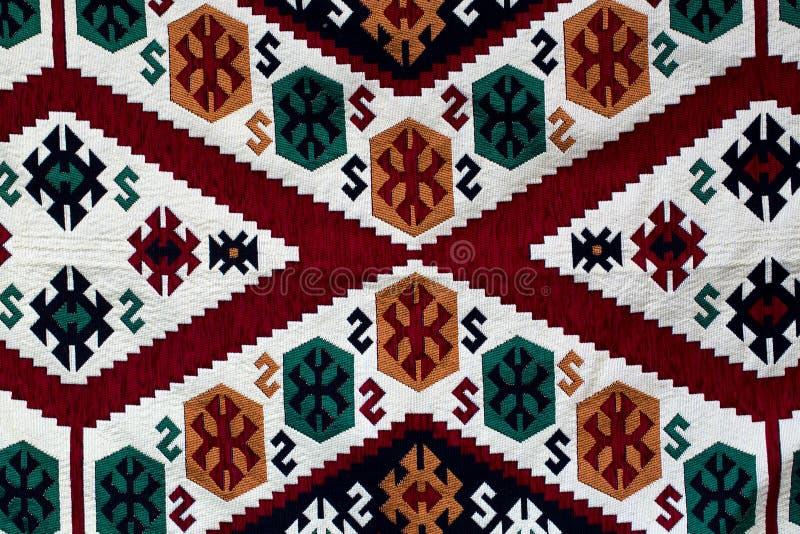 土耳其地毯纹理背景 免版税库存图片