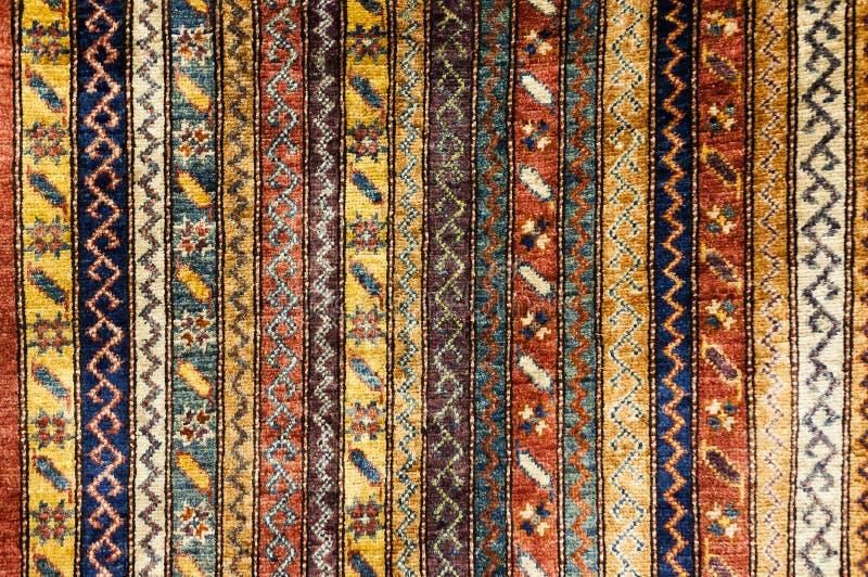 土耳其地毯背景 免版税库存照片