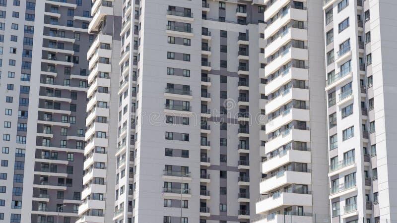 土耳其安卡拉一排现代公寓 库存照片