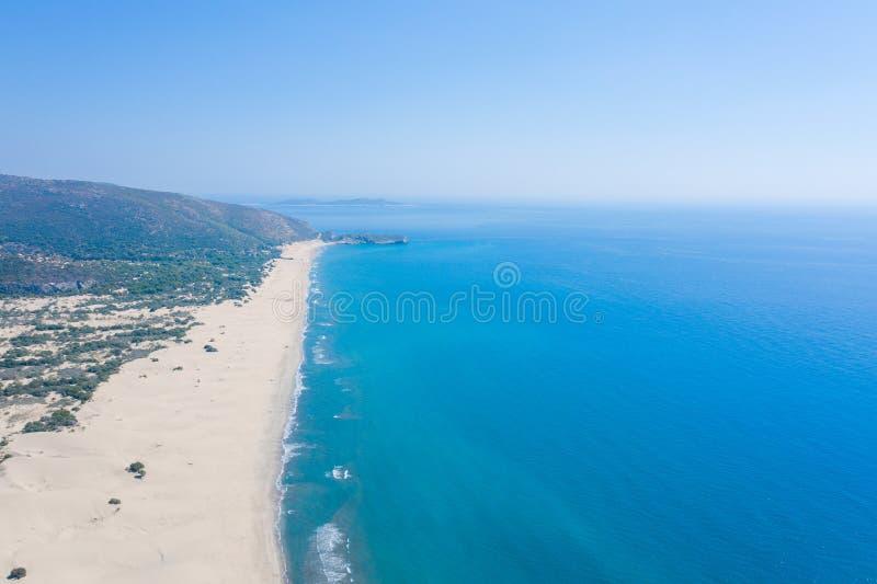 土耳其安塔利亚原封不动的帕塔拉海滩的真实景色 免版税库存照片