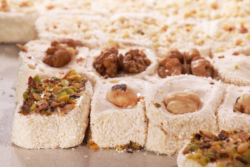 土耳其欢欣的甜点 免版税库存照片