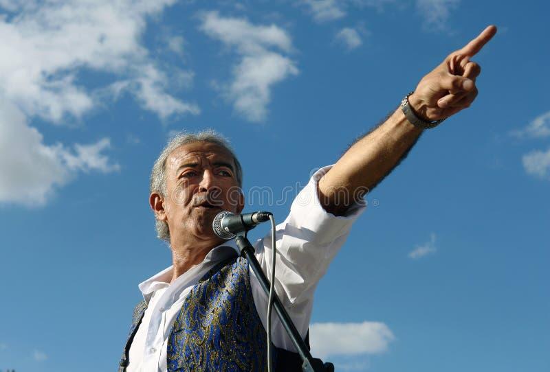 土耳其歌手 库存图片